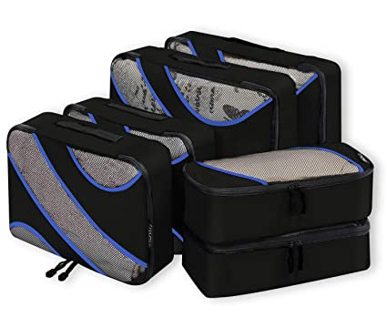 43d553133c9b Bagail 6 Set Packing Cubes,3 Various Sizes Travel Luggage Packing Organizers