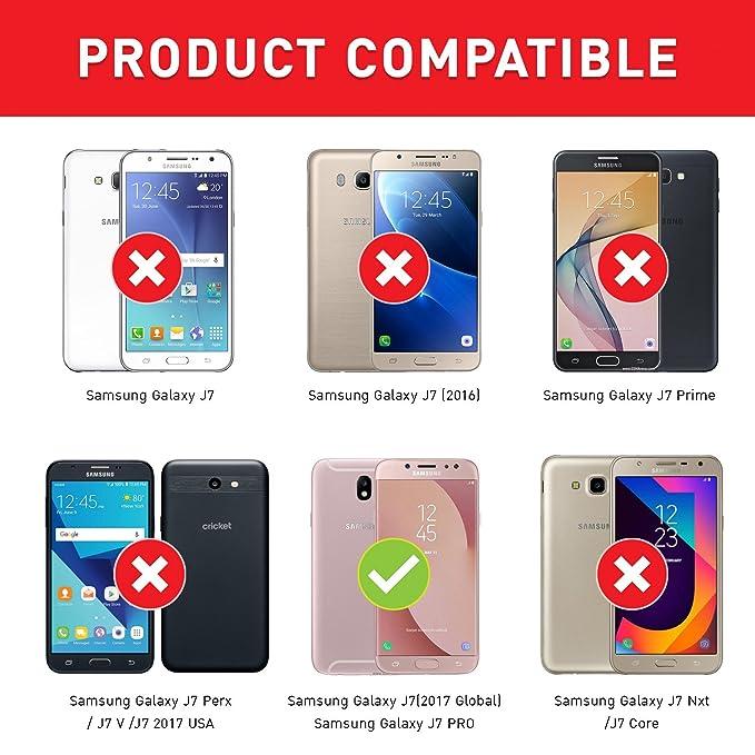 8ac75c30fff BEZ Funda Samsung J7 2017, Carcasa Compatible para Samsung Galaxy J7 2017, Libro  de Cuero con Tapa y Cartera, Cover Protectora con Ranura para Tarjetas y ...