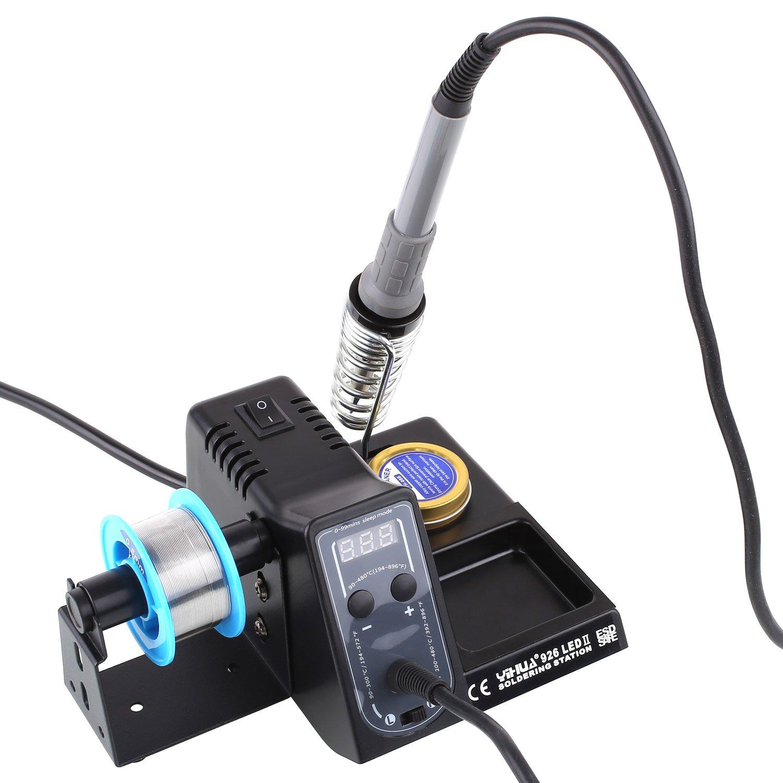 MVPOWER Estación de Soldadura Juego de Soldadura de 60W Soldador Ajustable con Pantalla de LED Digital Temperatura de 90 ~ 300 ℃ / 200 ~ 480 ℃: Amazon.es: ...