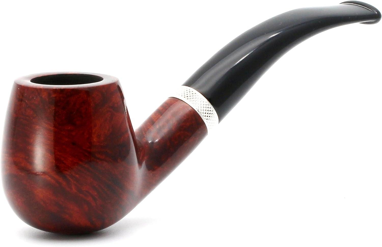 Mr. Brog Full Bent Tobacco Pipe - Model No: 82 Consul Pecan - Mediterranean Briar Wood - Hand Made