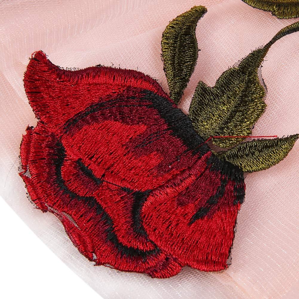 Baywell Robe de C/ér/émonie B/éb/é Fille Polyester Tulle Robe de Princesse Rose Fleur Imprim/ée sans Manches Mariage Anniversaire Mignonne D/ét/é 6-30Mois