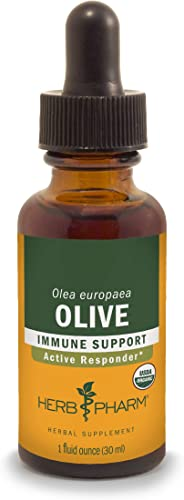 Herb Pharm Certified Organic Olive Leaf Extract for Immune System Support – 1 Ounce