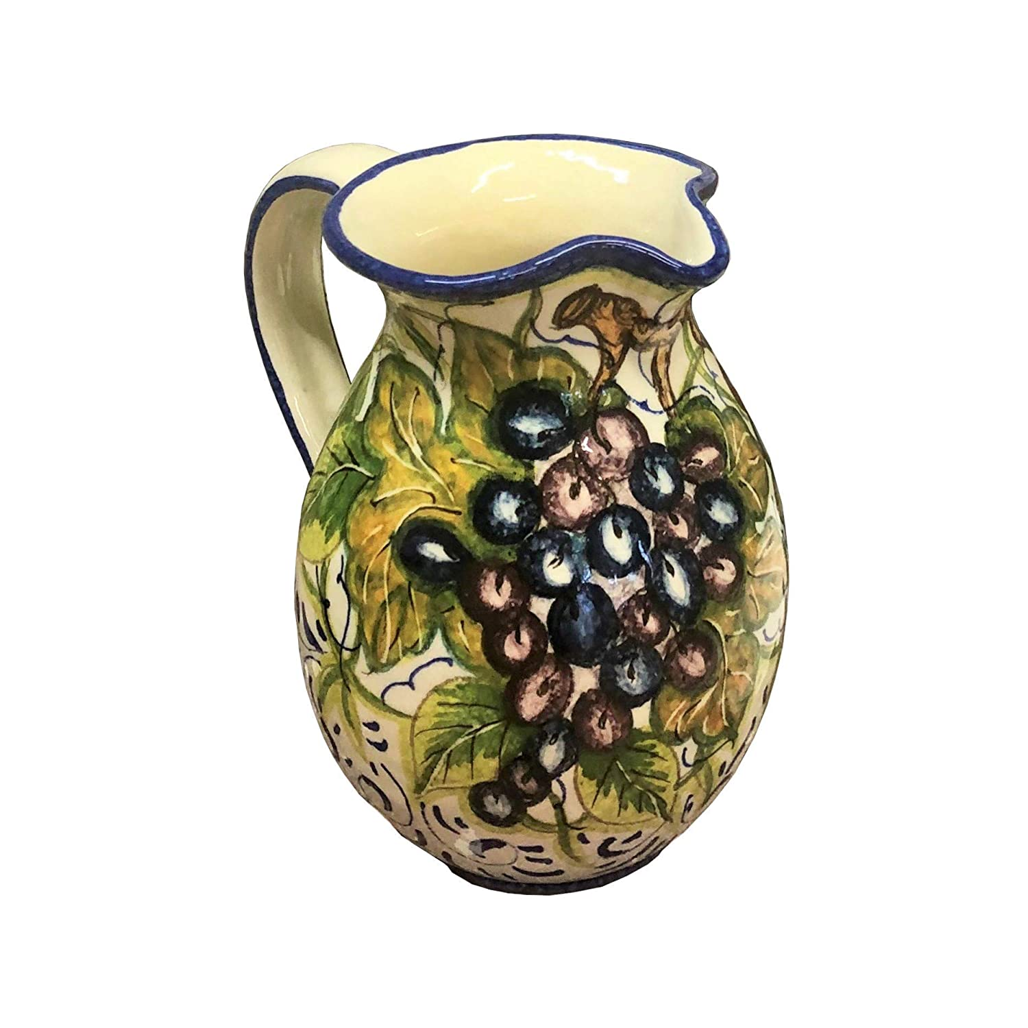 Italian Ceramic Art Pottery Jar Pitcher