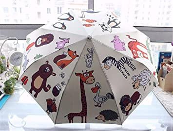 Katoot@ Original Cute Owl 3-Folding Automatic Umbrella Rain Women Plegable Paraguas Mujer Novelty