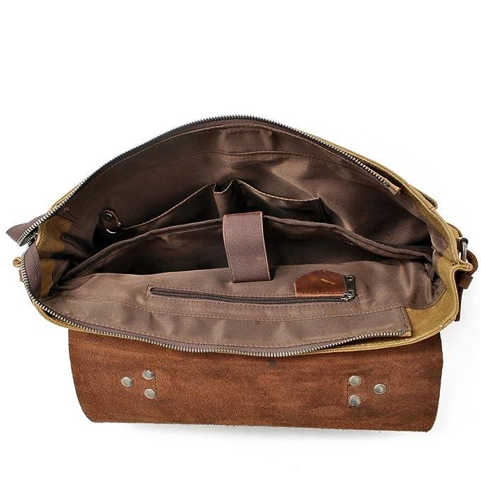 40afcf9ffa19 Amazon.com: FeliciaJuan Mens Shoulder Bag Simple Retro Large ...