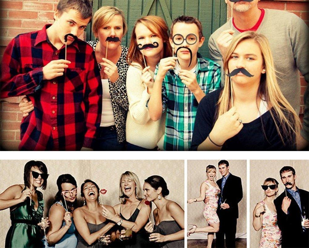 Demarkt Fotorequisiten Fotoaccessoires f/ür witzige egal ob Hochzeit Abschlussfeier oder jede andere Party 15 PCS Geburtstag