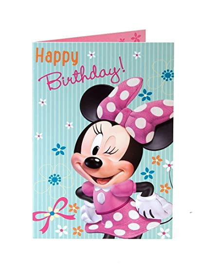 Amazon Minnie Mouse Happy Birthday In Pink And White Spotty