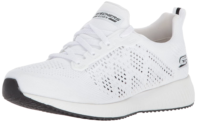 Skechers BOBS from Women's Bobs Squad-Open Weave Sneaker B072JX8B2N 11 M US|White