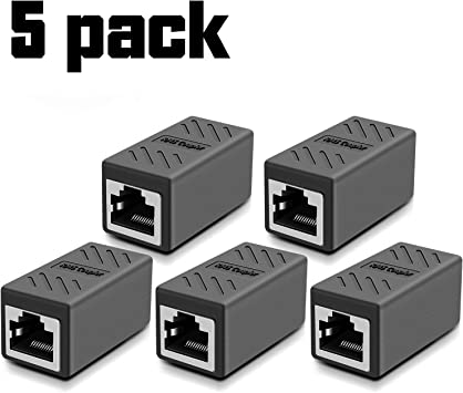 Amazon.com: Network Cable Coupler, RJ45 Adapter - Shielded in-Line Coupler  for Cat7/Cat6/Cat5e/cat5 Ethernet Cable Extender Connector - Ethernet Cable  Connectors Female to Female(Gray-5 Pack): Computers & AccessoriesAmazon.com