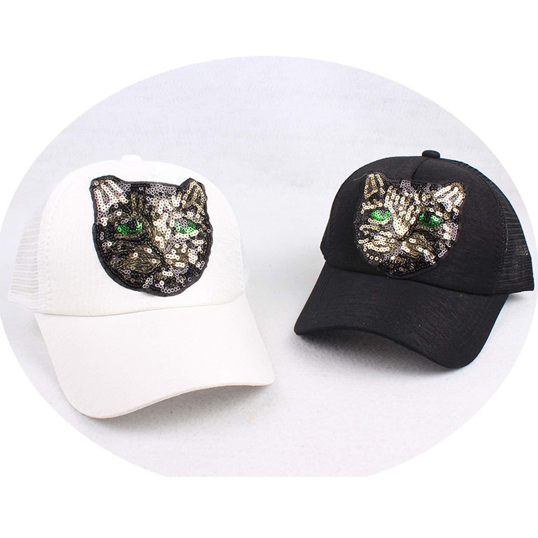 Fashion Animals Embroidery Baseball Caps Men Women Snapback Hip Hop Hat Summer Breathable Mesh Sun Unisex