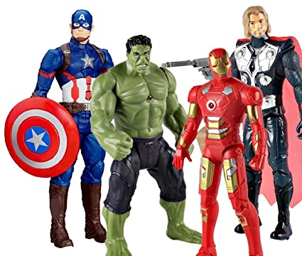 Marvel Avengers Infinity War Action Figures - Big Size 29 cm (4 Avengers  Toy Figure)