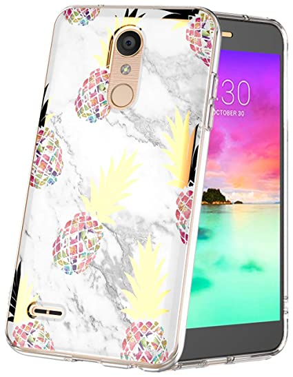 new arrival 8cd63 7d857 LG K30 Case,LG K10 2018 Case Marble Design Clear Bumper Protection Hybrid  Armor Shockproof Rubbe TPU Soft Silicone Girls Women Cell Phone Cover for  LG ...