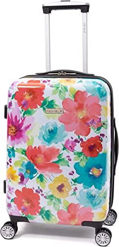20 Hardside Luggage Carry On Suitcase Bundle with Free Microfiber Cleaning Cloth and Air Freshener Breezy Blossom
