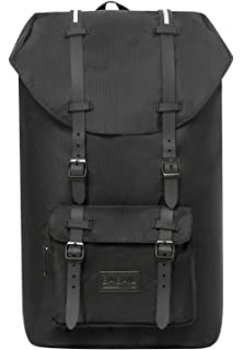 5f1e665129 Bagail Casual Large Vintage Canvas Travel Backpacks Laptop College School  Bags (Black)