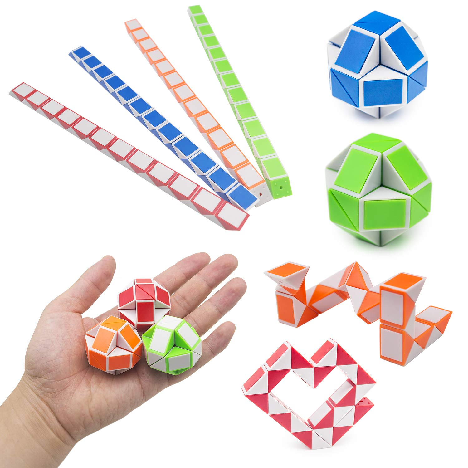 NANAHouse Sensory Toys for Special Needs,Stress Relief Toys Bundle,12 Colors DIY Air Dry Clay,Wood Spinner,Wacky Tracks Snap,Squishies Toy,Snake Twist Puzzles for ADHD ADD Anxiety Autism