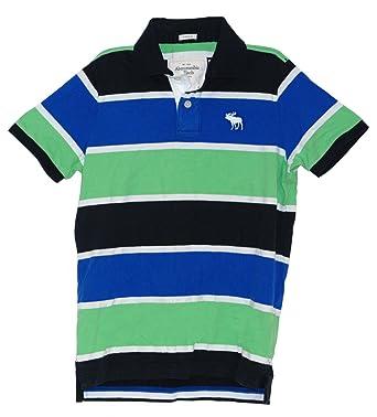 efc9327127a041 Abercrombie & Fitch Men's Large Polo Shirt (Black, Blue, Green Design):  Amazon.co.uk: Clothing