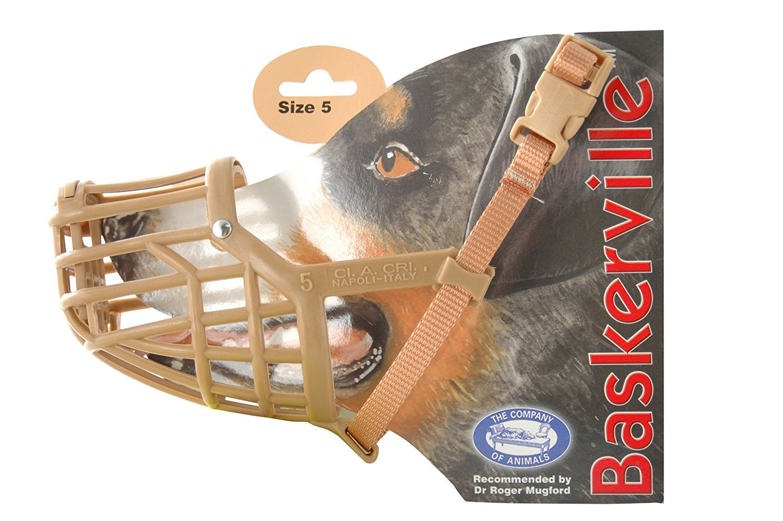 Company of Animals Baskerville Dog Muzzle, Size 5, Suitable for Cocker Spaniel, Corgi....
