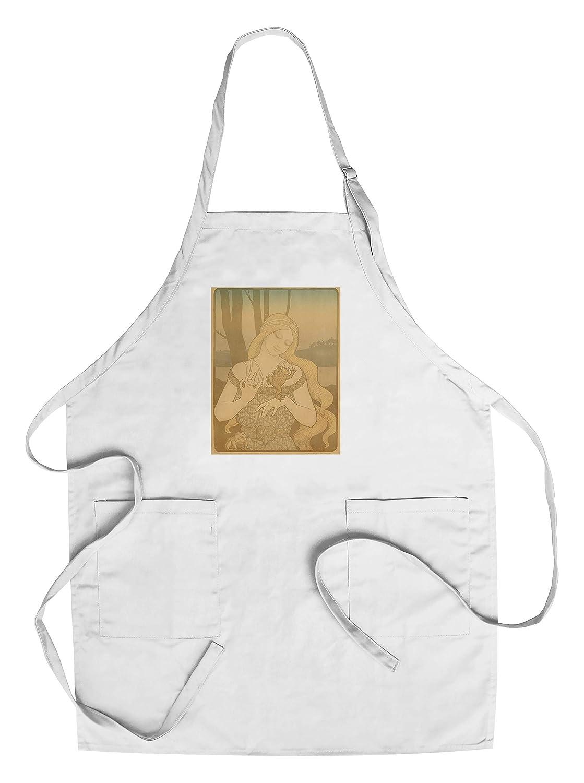 La Princesse au Crapaudヴィンテージポスター(アーティスト: Berthon , Paul )フランスC。1899 Chef's Apron LANT-65436-AP B018NO2VKQ  Chef's Apron