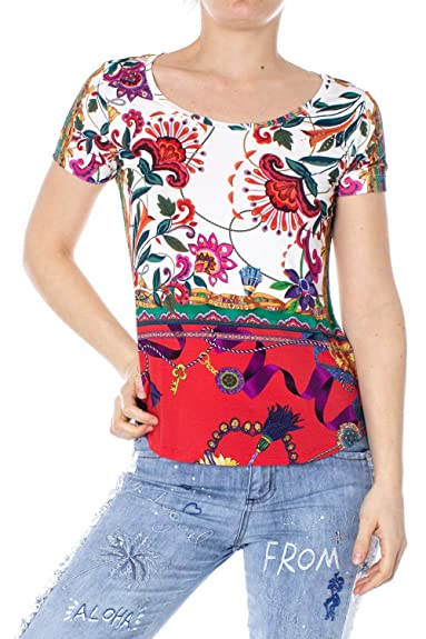Camiseta para Mujer Desigual T-Shirt Straps Georgina Woman White