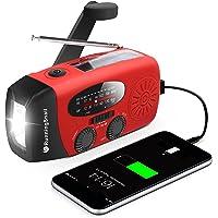 RunningSnail Emergency Hand Crank Radio With LED Flashlight For Emergency, AM/FM NOAA Portable Weather Radio With…