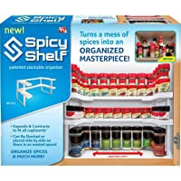 Spicy Shelf Patented Spice Rack and Stackable Organizer by Spicy Shelf