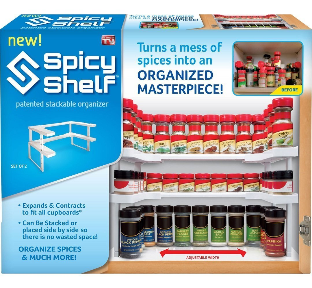 Spicy Shelf Spice Rack and Stackable Organizer L2V-SS