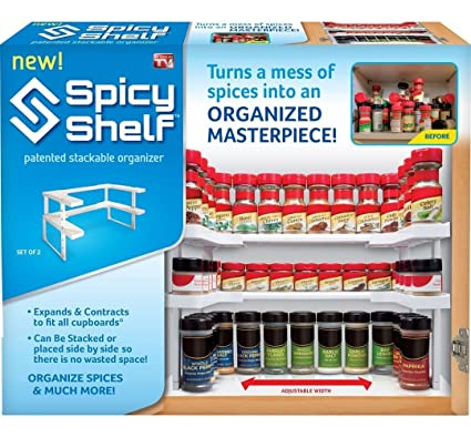Edenware Spice Rack And Stackable Shelf Gorgeous Amazon Spicy Shelf Spice Rack And Stackable Organizer Home