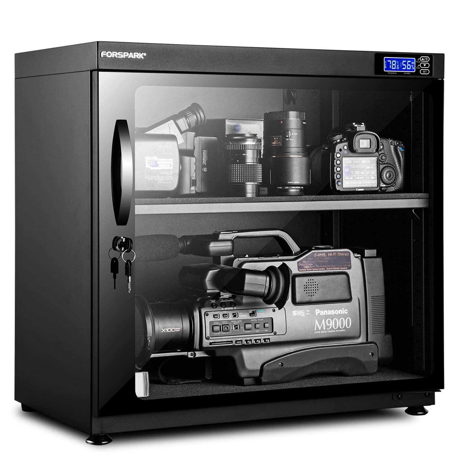 FORSPARK Camera Dehumidifying Dry Cabinet 15W 120L - Noiseless and Energy Saving - for Camera Lens and Electronic Equipment Storage