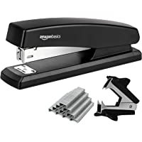 AmazonBasics Stapler Value Pack, Standard Stapler, Full-strip, 20 Sheet Capacity, Includes Staples & Staple Remover, 3 Pack
