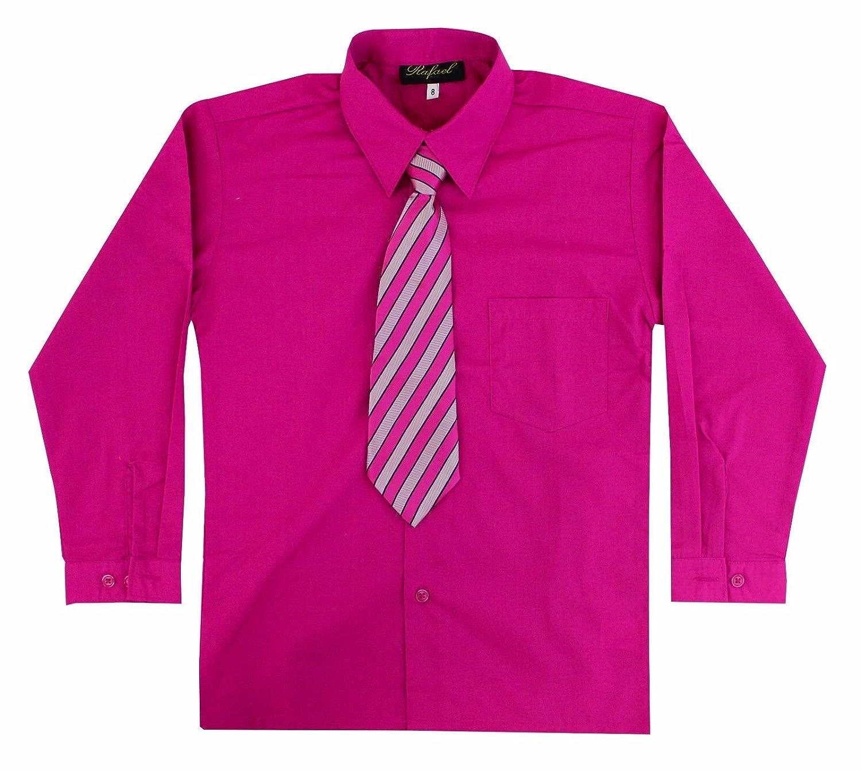 Amazon Kids Toddlers Boys Fuchsia Long Sleeve Dress Shirt With