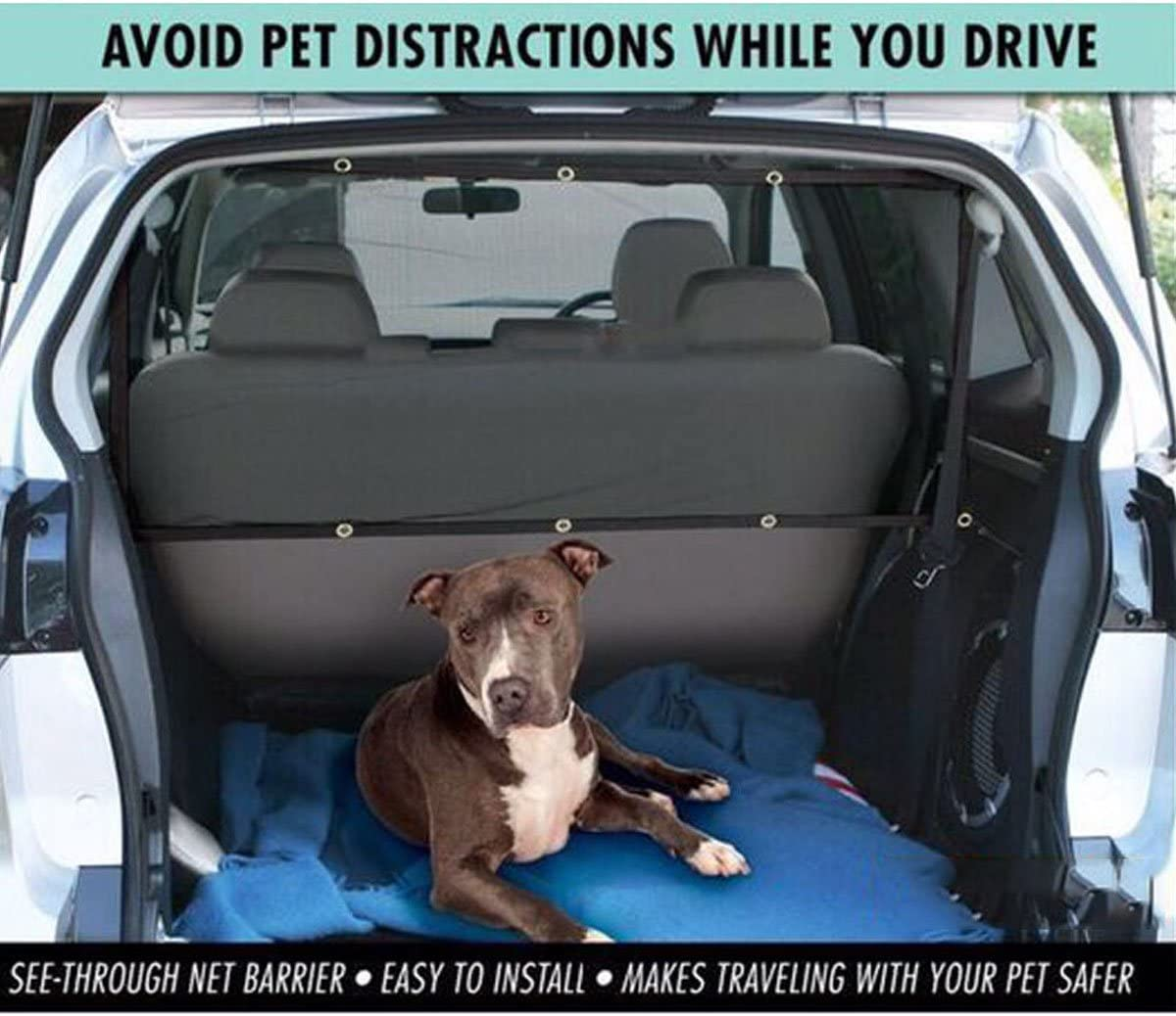 MAyouth Auto Pet Barrier Sicherheitsnetz F/ür Hund Fahrzeug Universal-Maschendrahtzaun Sicherheitsbarriere Durable Reise Blocks Hunde Zugang Zu Auto-Frontsitze