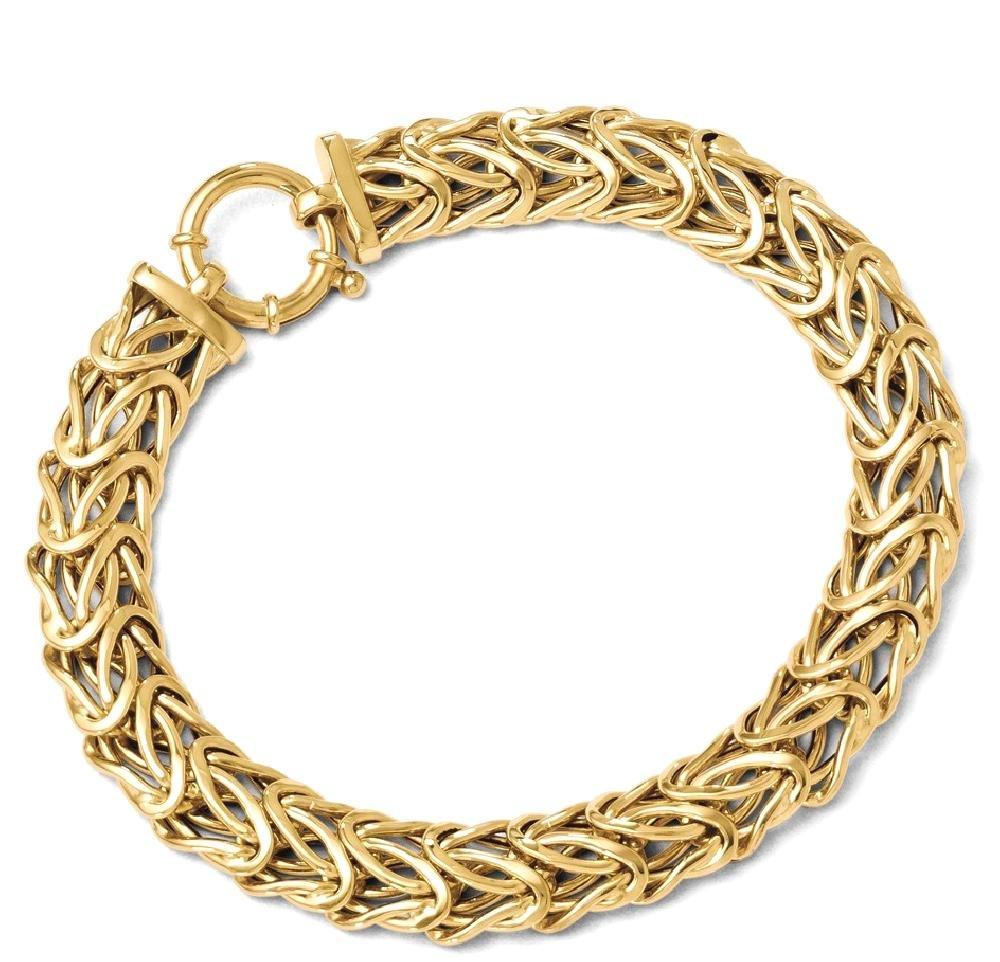 ICE CARATS 14k Yellow Gold Link Bracelet 7.50 Inch Fancy H Fine Jewelry Gift Set For Women Heart