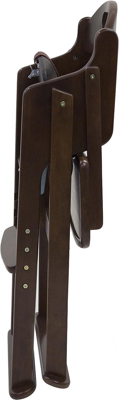 木製ワイドハイチェア ステップ切替