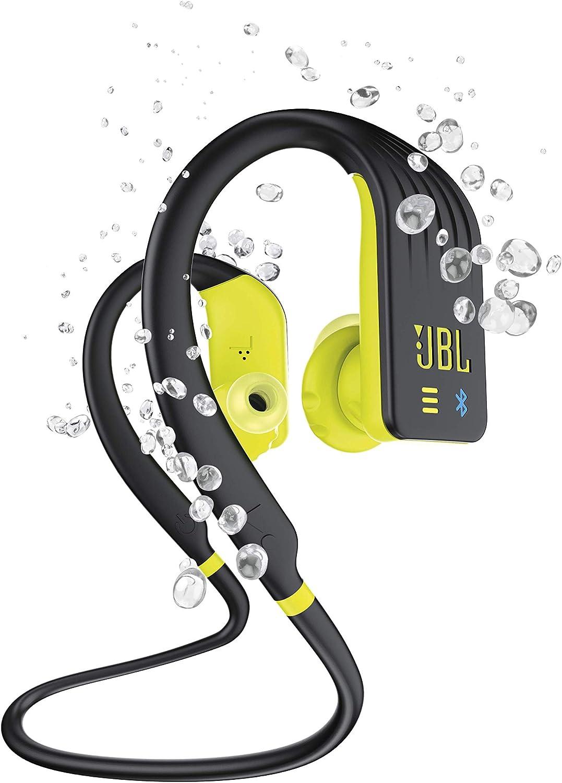 JBL Endurance Dive – Auriculares Inalámbricos Deportivos intraurales con MP3 (1GB), Resistente al agua, Activación inmediata on y off según se insertan o no al oído, Color Negro, Amarillo