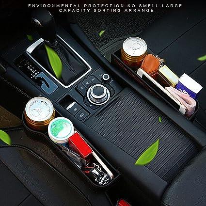 Schwarz Seasaleshop Autositz Tasche Schlitz Tasche Gap Catcher Aufbewahrungsbox Ablagefach mit PU Leder Kleinteile gutes autozubeh/ör Geeignet f/ür die meisten Autos