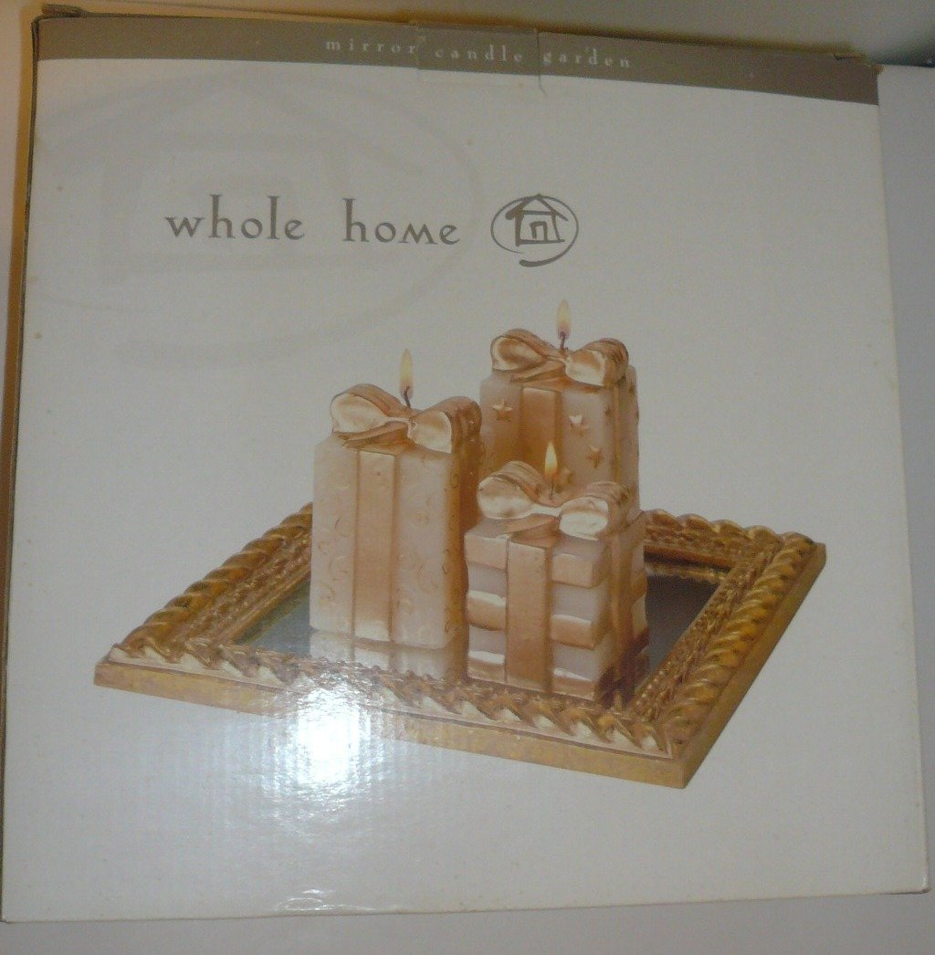 Gift Box Shaped Candles Set- ''Mirror Candle Garden'' By Sears