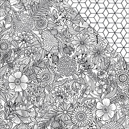 """UPC 718813752992, American Crafts 375299 Adult Coloring Books Patterned Paper (25 Pack), 12 by 12"""", Floral"""