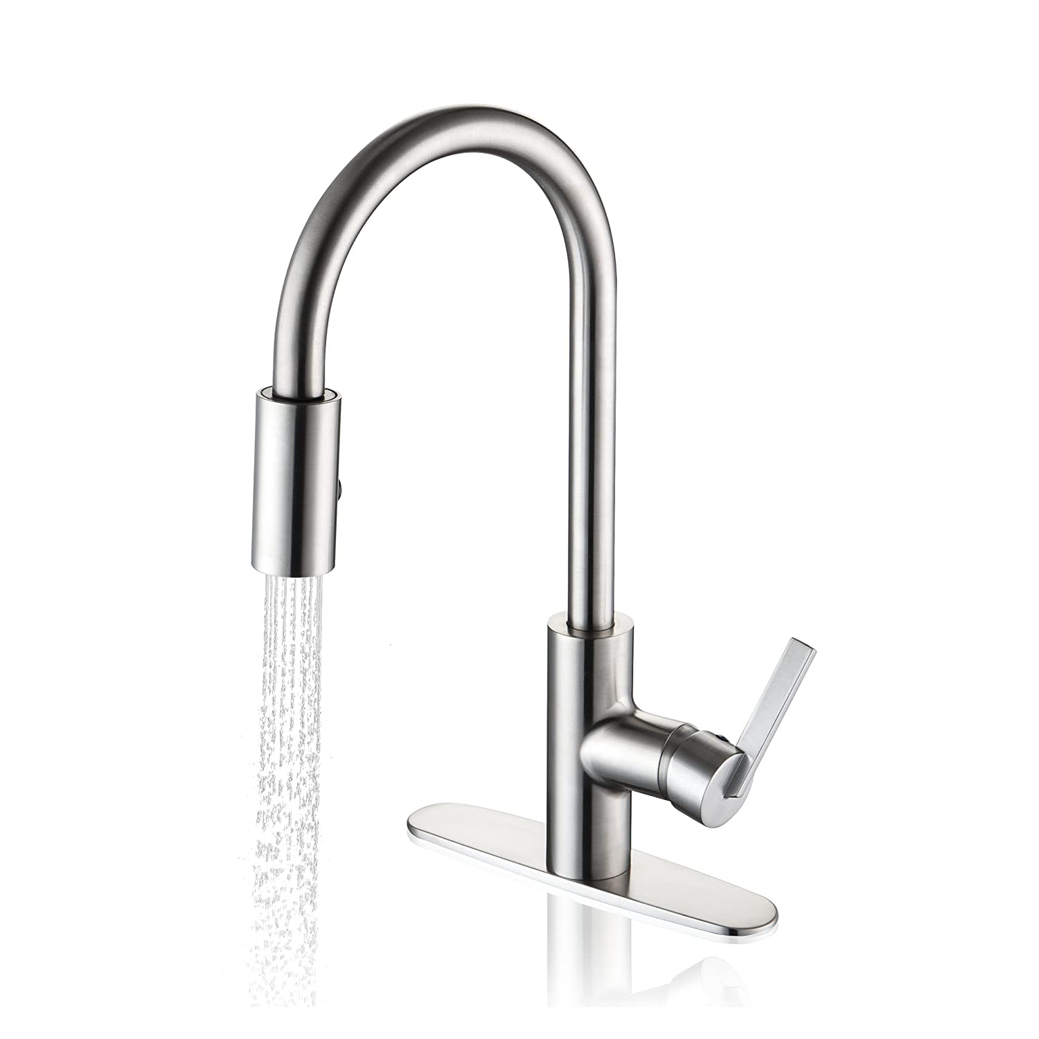 Enzo Rodi ERF7257292AP 10 Pull Down Kitchen Faucet, Stainless Steel      Amazon.com