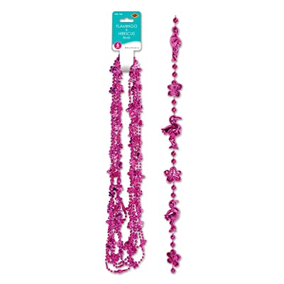 Beistle Flamingo & Hibiscus Beads: Toys & Games