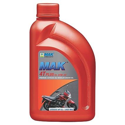Mak Lubricants 4t Plus Api Sl 20w 40 Engine Oil For Bikes 1 L
