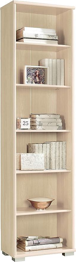 Miroytengo Estantería Estrecha librería Color Haya despacho habitación estantes Regulables 51x33x199 cm