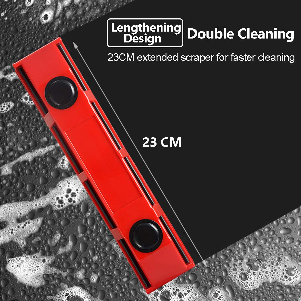 Magnetic Window Cleaner Squeegee Cleaning Brushes Tools for 0.1''-0.3'' Single Glazed Glass Suitable for Windows,Sliding Doors,Shower Screens,Car Windshields or Any Glass Surfaces by Acylulu Online (Image #8)