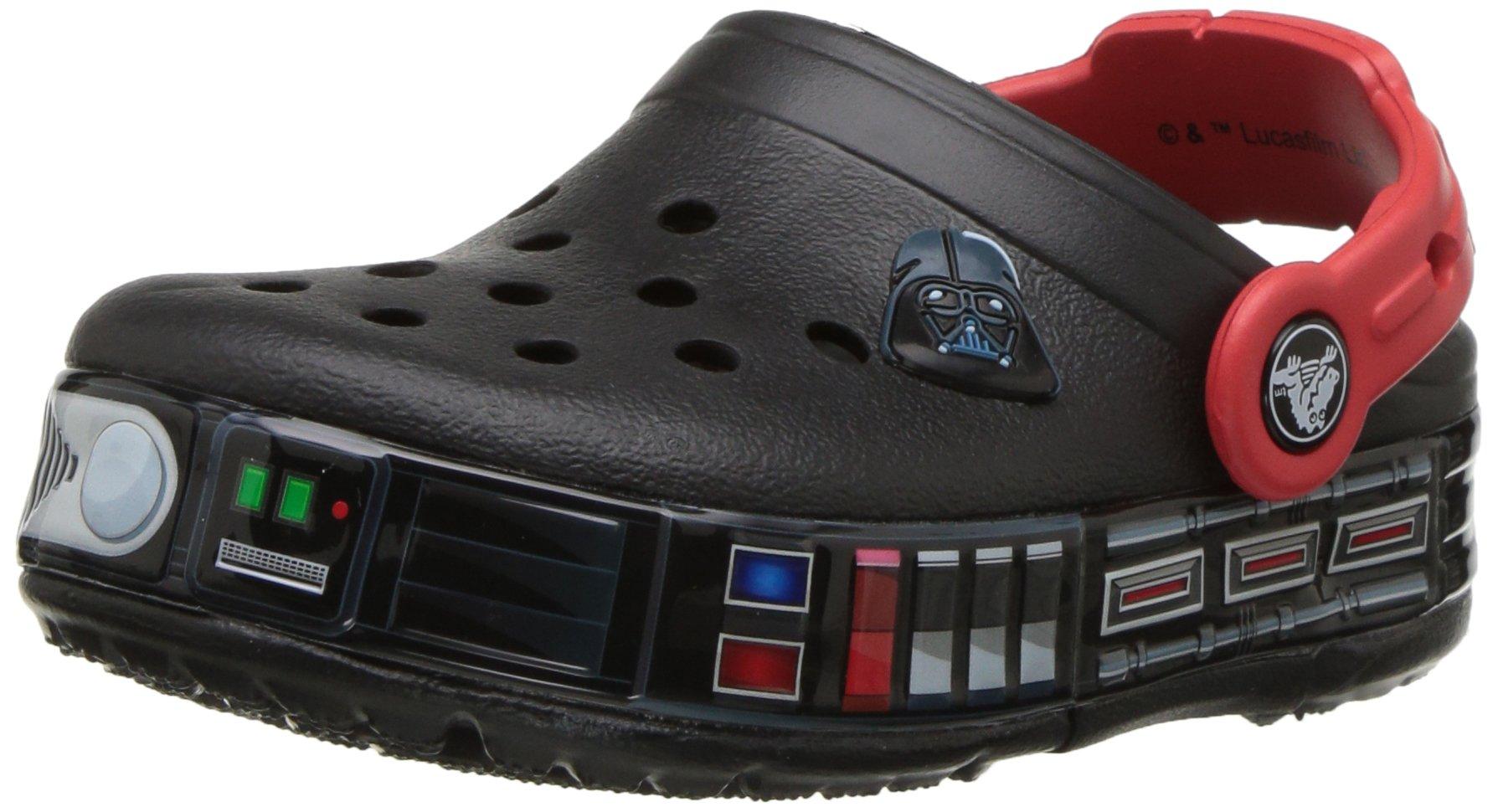 Crocs Kids' CB Fun Lab Darth Vader Light-up Clog, Black, 13 M US Little Kid