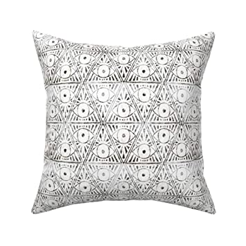 Amazon.com: roostery Magic Tribal negro blanco textura ...