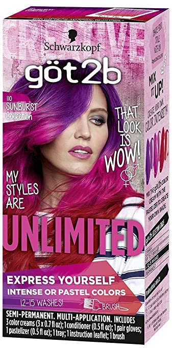 Amazon got2b unlimited semi permanent hair color 110 sunburst got2b unlimited semi permanent hair color 110 sunburst collection solutioingenieria Choice Image