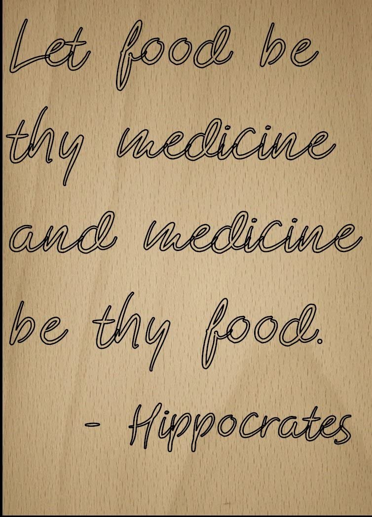 Mundus Souvenirs Let Food be Thy Medicine and Medicine be. Quote by Hippocrates, Laser Engraved on Wooden Plaque - Size: 8