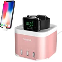 Simpeak Aluminum 4 Port USB Charger Stand for Apple Watch