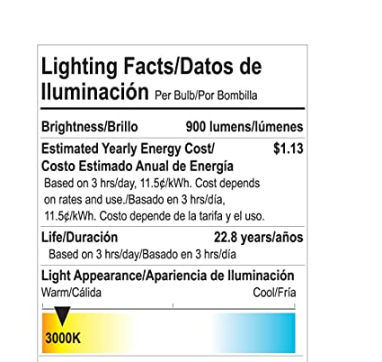 Goodlite G-83346 9W LED Dimmable A19 Omni Directional 300-Degree 950 lm 30K Light Bulb, Warm White - - Amazon.com