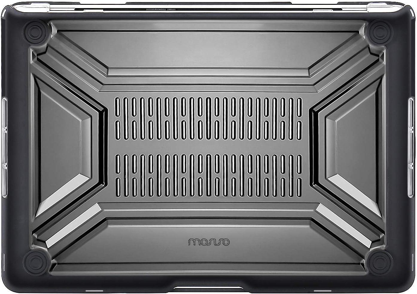 MOSISO H/ülle Kompatibel mit MacBook Pro 13 Zoll 2019-2016 Release A2159 A1989 A1706 A1708 Schwarz Schwerlast Plastic H/ülle /& TPU Sto/ßstange /& Tastaturschutz Nur Kompatibel mit MacBook Pro 13