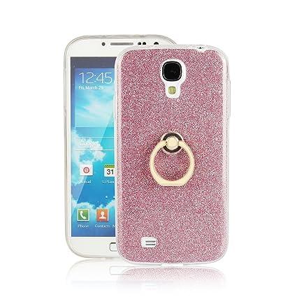 pinlu Funda Para Samsung Galaxy S4 (i9500) 5.0pulgada Anti-Arañazos Función Flash Brillante Suave TPU Silicona Case Ultra Delgada Hebilla del Anillo ...